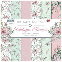 The Paper Boutique - Vintage Blooms Collection - 8 x 8 Paper Pad