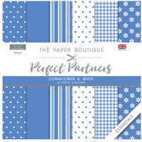 The Paper Boutique - Perfect Partners Collection - 8 x 8 Paper Pad - Cornflower