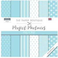 The Paper Boutique - Perfect Partners Collection - 8 x 8 Paper Pad - Aqua