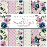 The Paper Boutique - Damask Delights Collection - 8 x 8 Paper Pad