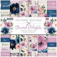 The Paper Boutique - Damask Delights Collection - 8 x 8 Embellishments Pad