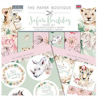 The Paper Boutique - Safari Buddies Collection - 8 x 8 Paper Kit