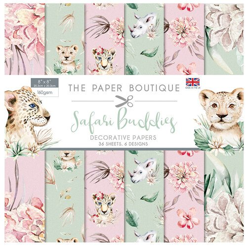 The Paper Boutique - Safari Buddies Collection - 8 x 8 Paper Pad