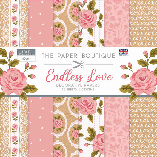 The Paper Boutique - Endless Love Collection - 8 x 8 Paper Pad