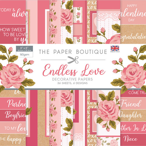 The Paper Boutique - Endless Love Collection - 8 x 8 Embellishments Pad
