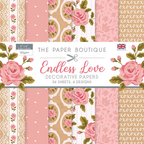 The Paper Boutique - Endless Love Collection - 6 x 6 Paper Pad