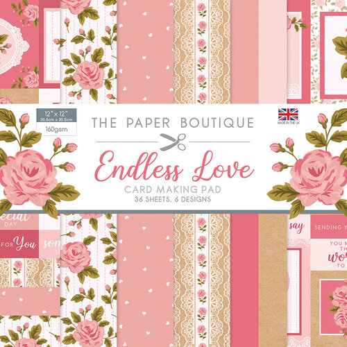 The Paper Boutique - Endless Love Collection - 12 x 12 Card Making Pad
