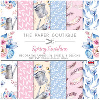 The Paper Boutique - Spring Sunshine Collection - 8 x 8 Paper Pad