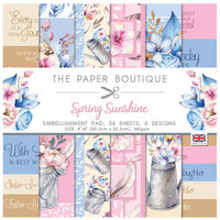 The Paper Boutique - Spring Sunshine Collection - 8 x 8 Embellishments Pad