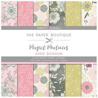The Paper Boutique - Perfect Partners Collection - 8 x 8 Paper Pad - Apple Blossom Florals