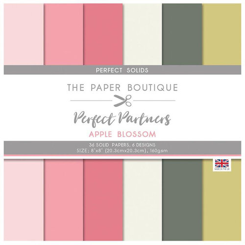 The Paper Boutique - Perfect Partners Collection - 8 x 8 Paper Pad - Apple Blossom Solids