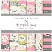 The Paper Boutique - Perfect Partners Collection - 8 x 8 Embellishment Pad - Apple Blossom Toppers