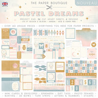 The Paper Boutique - Pastel Dreams Collection - 8 x 8 Project Pad