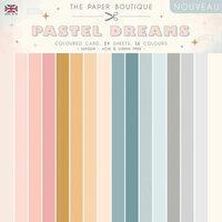 The Paper Boutique - Pastel Dreams Collection - 8 x 8 Colour Card Pack