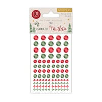 The Paper Boutique - Under The Mistletoe Collection - Christmas - Adhesive Gems