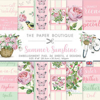 The Paper Boutique - Summer Sunshine Collection - 8 x 8 Embellishments Pad