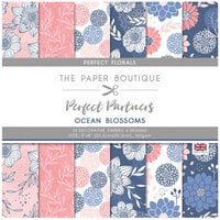 The Paper Boutique - Perfect Partners Collection - 8 x 8 Paper Pad - Ocean Blossoms