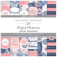 The Paper Boutique - Perfect Partners Collection - 8 x 8 Embellishment Pad - Ocean Blossoms