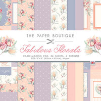 The Paper Boutique - Fabulous Florals Collection - 12 x 12 Card Making Pad