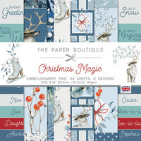 The Paper Boutique - Christmas Magic Collection - 8 x 8 Embellishments Pad