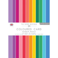 The Paper Boutique - Everyday Collection - A4 Colour Card Pack - Rainbow Brights