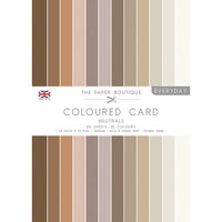The Paper Boutique - Everyday Collection - A4 Colour Card Pack - Neutrals