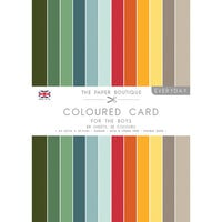 The Paper Boutique - Everyday Collection - A4 Colour Card Pack - For The Boys