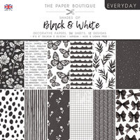 The Paper Boutique - Everyday Collection - 8 x 8 Paper Pad - Shades Of Black and White