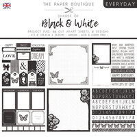 The Paper Boutique - Everyday Collection - 8 x 8 Project Pad - Shades Of Black and White