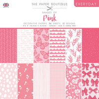 The Paper Boutique - Everyday Collection - 8 x 8 Paper Pad - Shades Of Pink