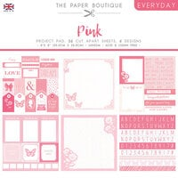 The Paper Boutique - Everyday Collection - 8 x 8 Project Pad - Shades Of Pink