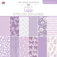The Paper Boutique - Everyday Collection - 8 x 8 Paper Pad - Shades Of Lilac