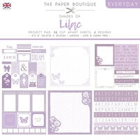 The Paper Boutique - Everyday Collection - 8 x 8 Project Pad - Shades Of Lilac