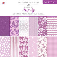 The Paper Boutique - Everyday Collection - 8 x 8 Paper Pad - Shades Of Purple