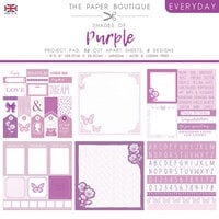 The Paper Boutique - Everyday Collection - 8 x 8 Project Pad - Shades Of Purple