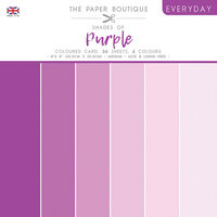 The Paper Boutique - Everyday Collection - 8 x 8 Colour Card Pack - Shades Of Purple