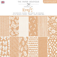 The Paper Boutique - Everyday Collection - 8 x 8 Paper Pad - Shades Of Kraft