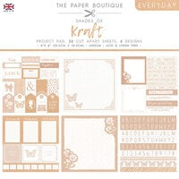 The Paper Boutique - Everyday Collection - 8 x 8 Project Pad - Shades Of Kraft