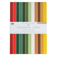 The Paper Boutique - Christmas Collection - A4 Colour Card Pack - Classic Christmas