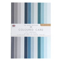 The Paper Boutique - Christmas Collection - A4 Colour Card Pack - Icy Christmas