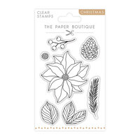 The Paper Boutique - Christmas Collection - Clear Photopolymer Stamps - Layering Poinsettia