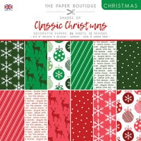 The Paper Boutique - Christmas Collection - 8 x 8 Paper Pad - Shades Of Classic Christmas