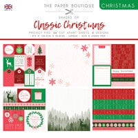 The Paper Boutique - Christmas Collection - 8 x 8 Project Pad - Shades Of Classic Christmas