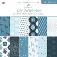 The Paper Boutique - Christmas Collection - 8 x 8 Paper Pad - Shades Of Icy Christmas