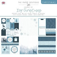 The Paper Boutique - Christmas Collection - 8 x 8 Project Pad - Shades Of Icy Christmas