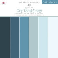 The Paper Boutique - Christmas Collection - 8 x 8 Colour Card Pack - Shades Of Icy Christmas