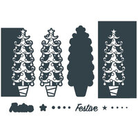 The Paper Boutique - Christmas - Festive Trimmings Collection - Border Die - Festive Tree