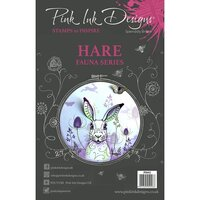 Pink Ink Designs - Clear Acrylic Stamps - A5 - Hare