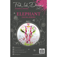 Pink Ink Designs - Clear Acrylic Stamps - A5 - Elephant