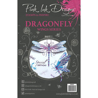 Pink Ink Designs - Clear Acrylic Stamps - A5 - Dragonfly